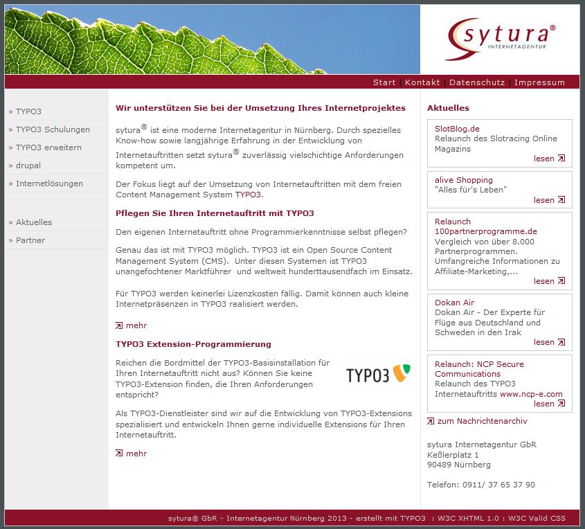 sytura Relaunch 2013